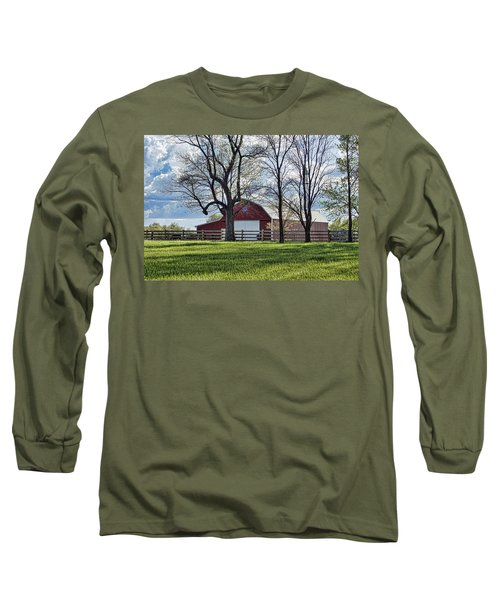 Long Sleeve T-Shirt featuring the photograph Schooler Road Barn by Cricket Hackmann