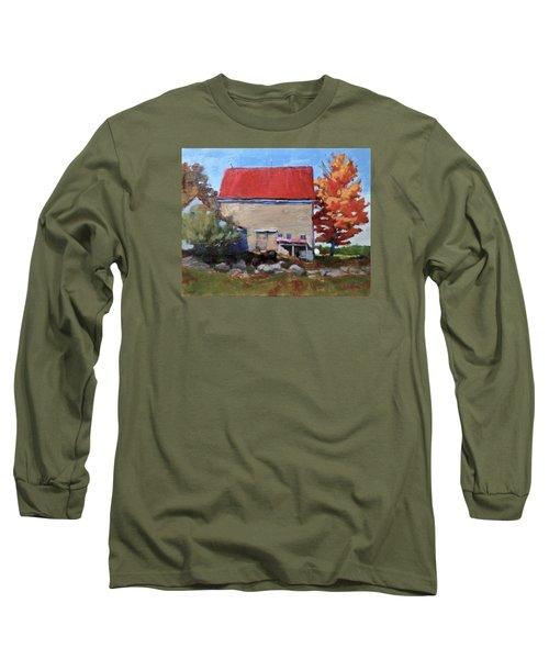 Schoolhouse Farm, Warren, Maine Long Sleeve T-Shirt