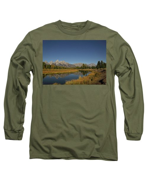 Schwabacher's Landing In Moonlight Long Sleeve T-Shirt
