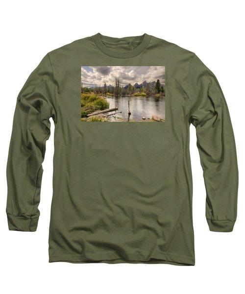 Schwabachers Landing Long Sleeve T-Shirt by John Gilbert