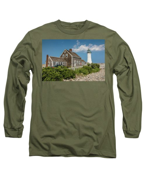 Scituate Lighthouse In Scituate, Ma Long Sleeve T-Shirt