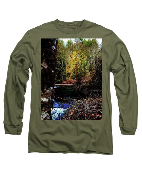 Scoggins Creek 3 Long Sleeve T-Shirt by Jerry Sodorff