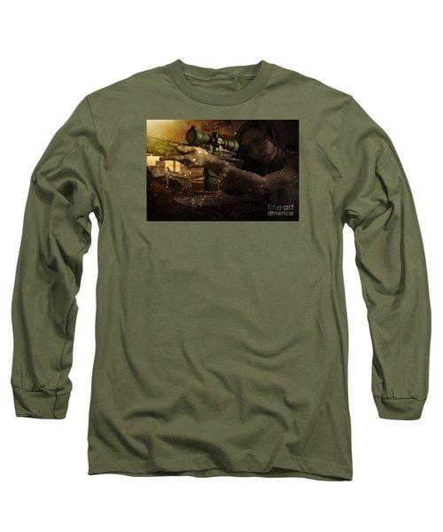 Scopped Long Sleeve T-Shirt by David Bazabal Studios