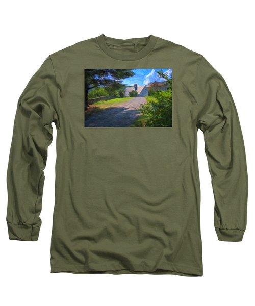 Long Sleeve T-Shirt featuring the photograph Scott Farm Summer by Tom Singleton