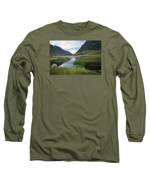Scottish Tranquility Long Sleeve T-Shirt by Dubi Roman