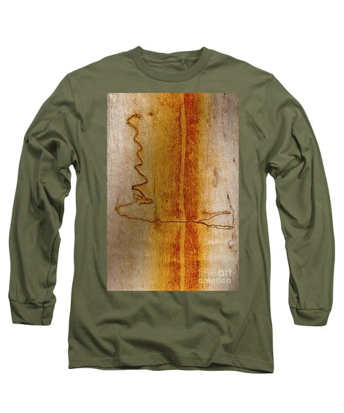 Long Sleeve T-Shirt featuring the photograph Scribbly Gum Bark by Werner Padarin