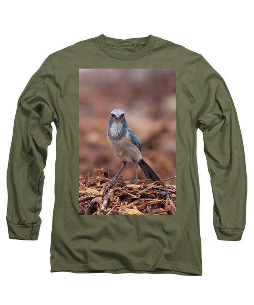 Scrub Jay On Chop Long Sleeve T-Shirt