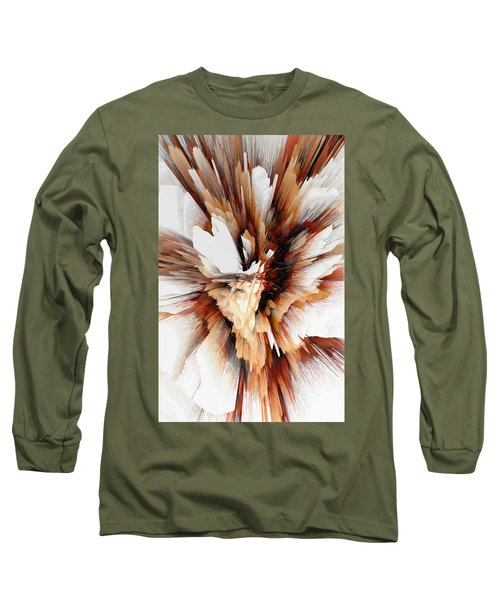 Long Sleeve T-Shirt featuring the digital art Sculptural Series Digital Painting 23.120210ext5100l by Kris Haas