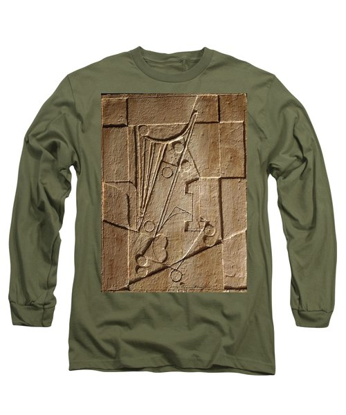 Sculptured Panel - Influenced By Picasso's Painting Having The Number 1 Long Sleeve T-Shirt