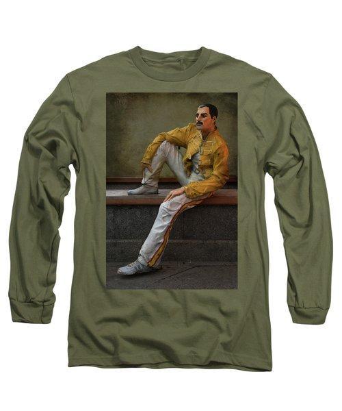 Sculptures Of Sankt Petersburg - Freddie Mercury Long Sleeve T-Shirt