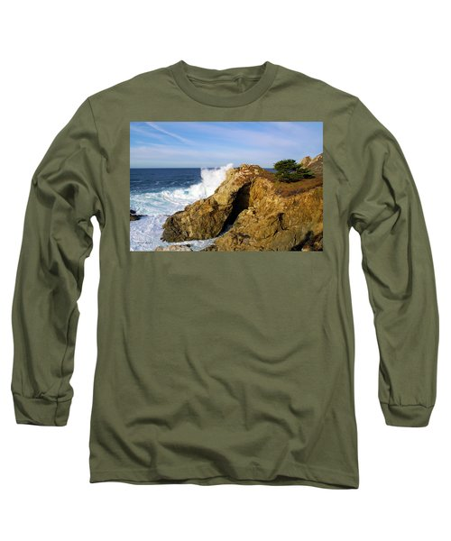 Long Sleeve T-Shirt featuring the photograph Sea Cave Big Sur by Floyd Snyder