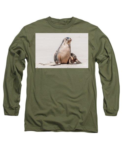Sea Lion 1 Long Sleeve T-Shirt by Werner Padarin