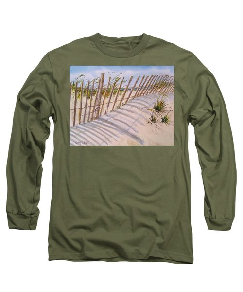 Sea Oats And Shadows Long Sleeve T-Shirt