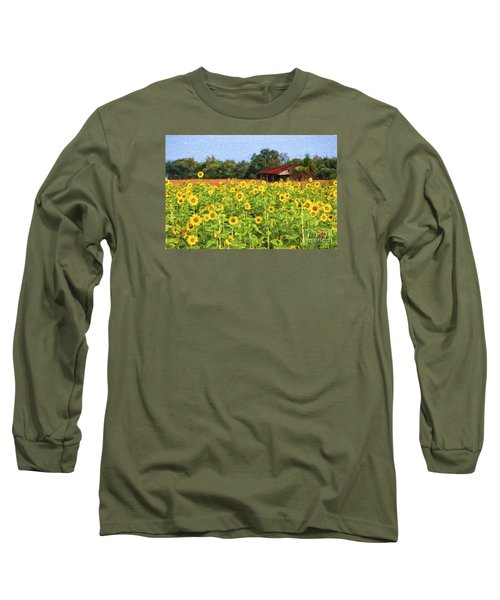 Sea Of Sunflowers Long Sleeve T-Shirt