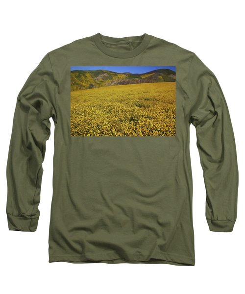 Long Sleeve T-Shirt featuring the photograph Sea Of Yellow Up In The Temblor Range At Carrizo Plain National Monument by Jetson Nguyen