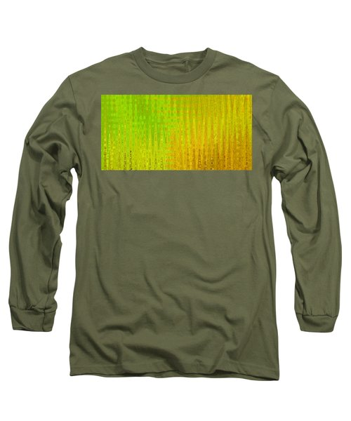 Sea Song Green And Gold Long Sleeve T-Shirt by Stephanie Grant