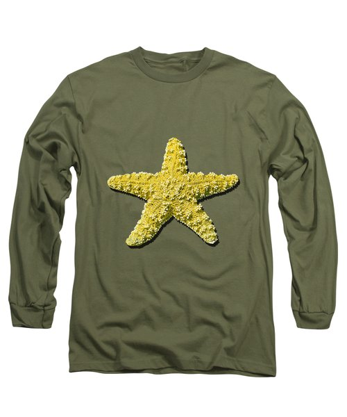 Sea Star Yellow .png Long Sleeve T-Shirt by Al Powell Photography USA