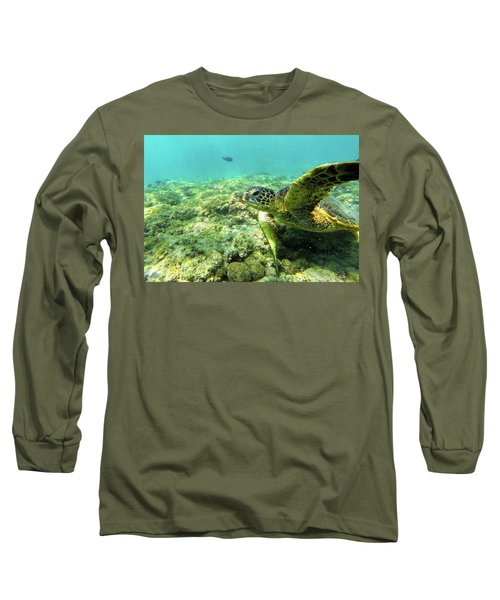 Long Sleeve T-Shirt featuring the photograph Sea Turtle #2 by Anthony Jones