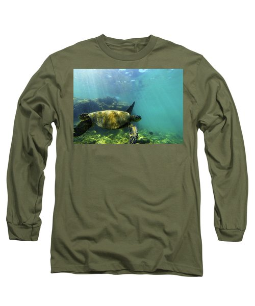 Long Sleeve T-Shirt featuring the photograph Sea Turtle #5 by Anthony Jones