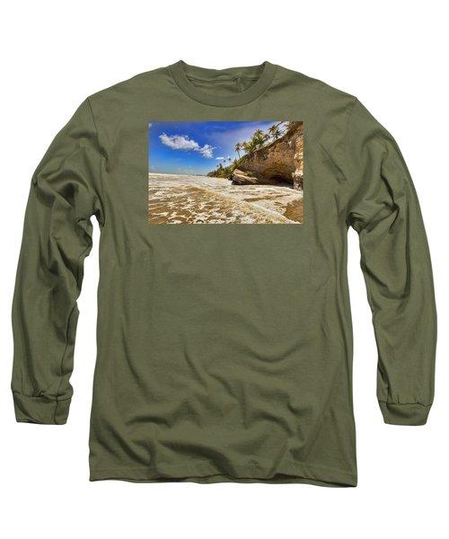 Sea Waves Long Sleeve T-Shirt by Nadia Sanowar