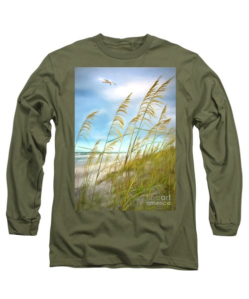 Seaoats Fantasy Long Sleeve T-Shirt by Linda Olsen