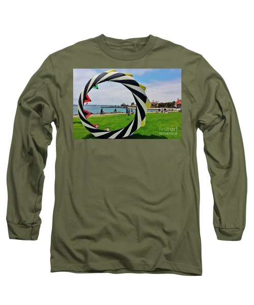 Long Sleeve T-Shirt featuring the photograph Seaport Villagethrough My Lens by Jasna Gopic