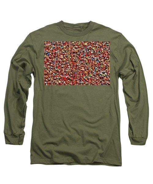 Seattle Gum Wall 2 Long Sleeve T-Shirt by Allen Beatty