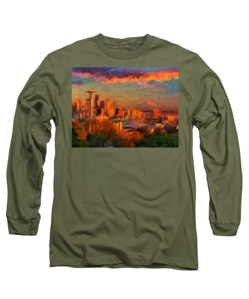 Seattle Sunset 1 Long Sleeve T-Shirt