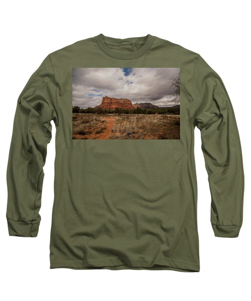 Sedona National Park Arizona Red Rock 2 Long Sleeve T-Shirt by David Haskett