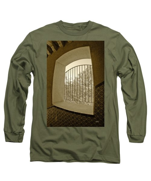 Long Sleeve T-Shirt featuring the photograph Sedona Series - Through The Window by Ben and Raisa Gertsberg