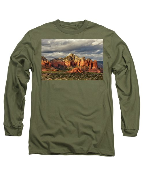 Long Sleeve T-Shirt featuring the photograph Sedona Skyline by James Eddy