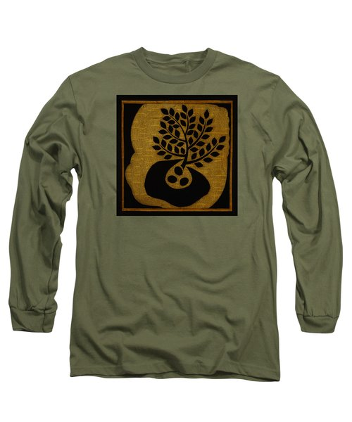 Long Sleeve T-Shirt featuring the mixed media Seeds Of Life by Gloria Rothrock