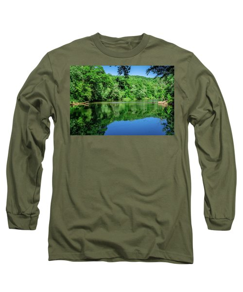 Semi Placid Stream Long Sleeve T-Shirt