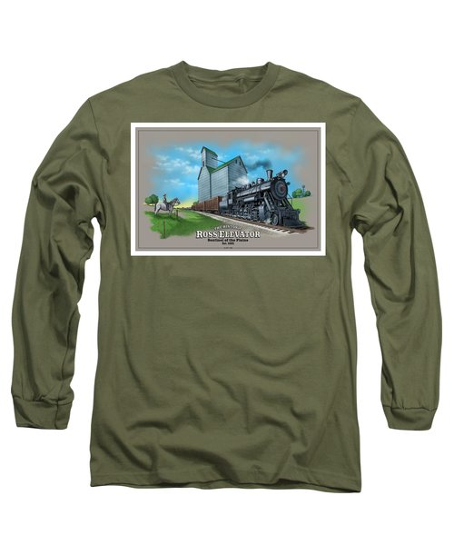 The Ross Elevator Sentinel Of The Plains Long Sleeve T-Shirt by Scott Ross