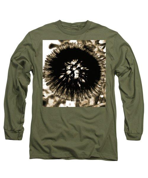 Sepia Dandelion Long Sleeve T-Shirt