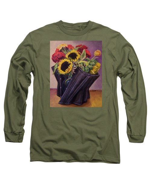 Long Sleeve T-Shirt featuring the painting September Cincher by Laura Aceto