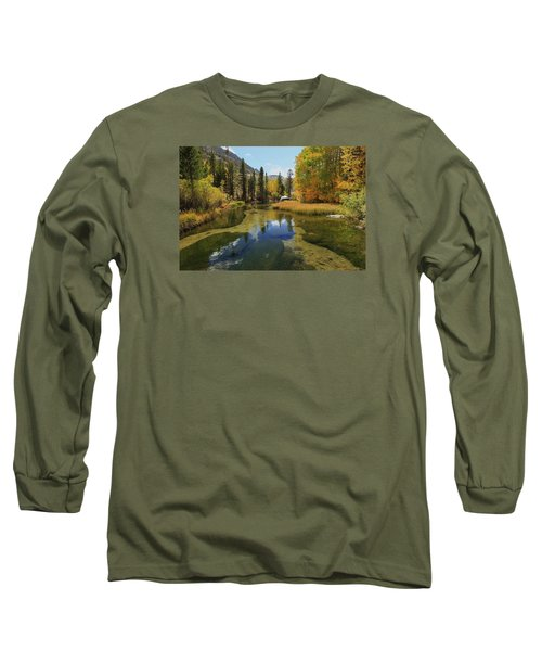 Serene Stream Long Sleeve T-Shirt by Sean Sarsfield