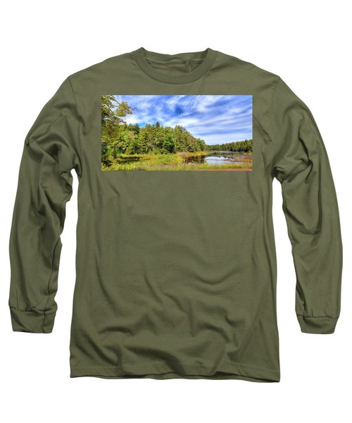 Long Sleeve T-Shirt featuring the photograph Serenity On Bald Mountain Pond by David Patterson