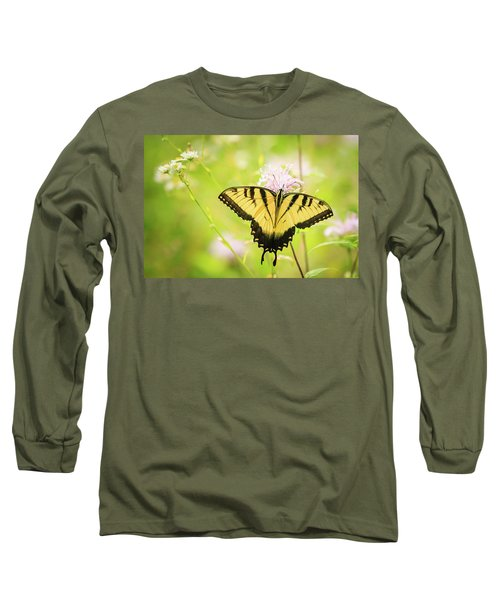 Series Of Yellow Swallowtail #6 Of 6 Long Sleeve T-Shirt