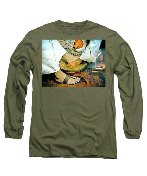 Serving One Another Long Sleeve T-Shirt by Wayne Pascall