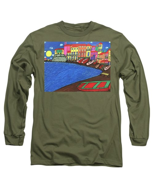 Long Sleeve T-Shirt featuring the painting Sestri Levante Italy by Jonathon Hansen