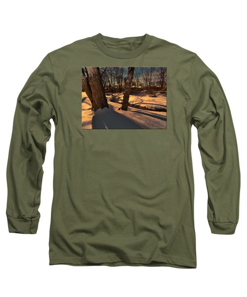 Setting Sun On A Winters Day Long Sleeve T-Shirt by Mikki Cucuzzo
