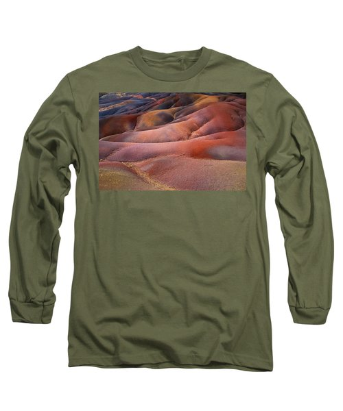 Seven Colored Earth In Chamarel 8. Series Earth Bodyscapes. Mauritius Long Sleeve T-Shirt
