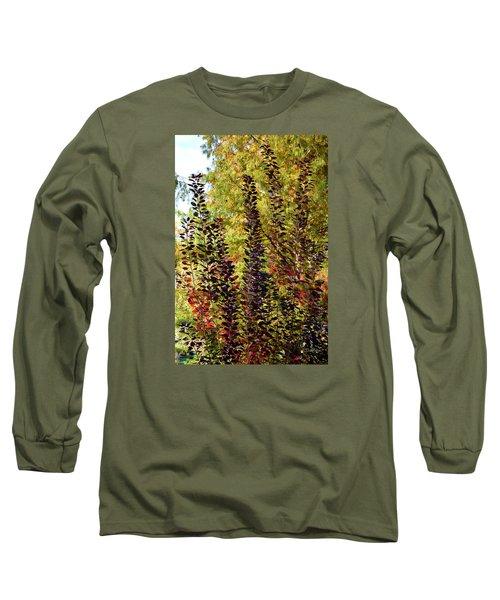 Shades Of Fall Long Sleeve T-Shirt by Deborah  Crew-Johnson