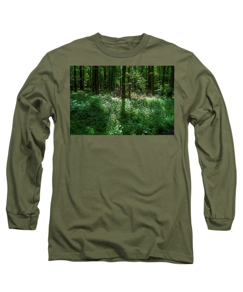 Shadow And Light In A Forest Long Sleeve T-Shirt