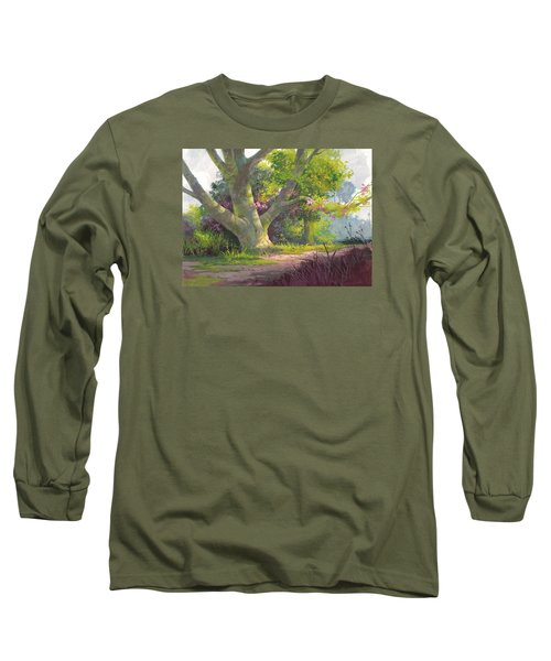 Shady Oasis Long Sleeve T-Shirt by Michael Humphries