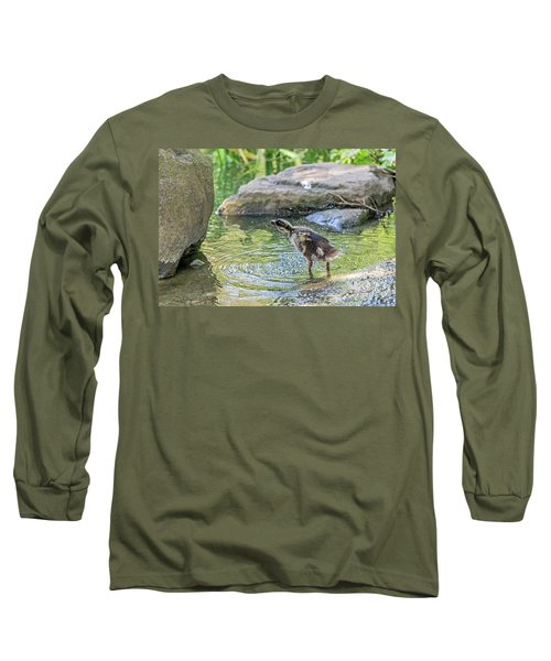 Long Sleeve T-Shirt featuring the photograph Shake It Off by Kate Brown