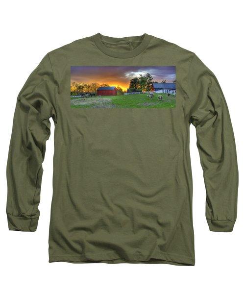 Shaker Animals At Sunset Long Sleeve T-Shirt