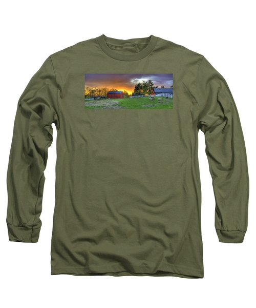 Shaker Animals At Sunset Long Sleeve T-Shirt