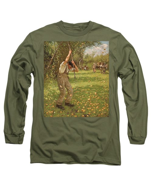 Shaking Down Cider Apples  Long Sleeve T-Shirt